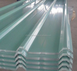 RAL color coated corrugated steel 0.4mm white steel roof tile