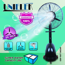 Very strong air flow manual control inoor outdoor use big water industrial mist fan cooling