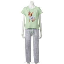 Junior's Sweet Critters Tee & Capri Pajama Set
