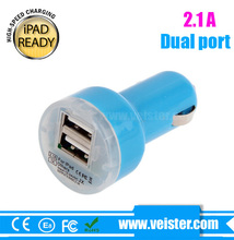 Dual USB Car Adapter 5V 2.1A for Samsung Galaxy S4