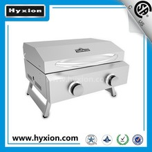 Factory wholesale price gas barbecue/ bbq smoker with two burner