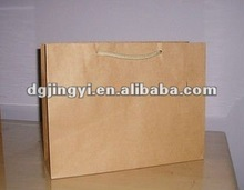 Brown craft shopping paper packaging bag wholesale made in China
