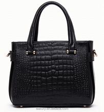 2015 Crocodile skin grain leather handbag 100% genuine leather handbags
