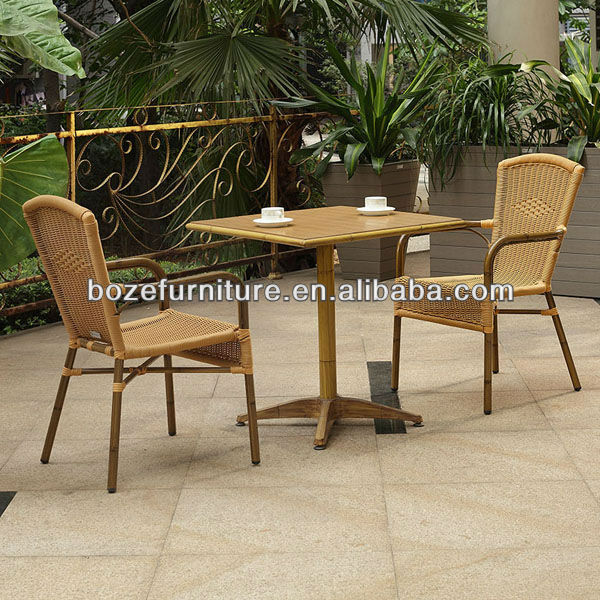 Outdoor Bamboo Like Rattan Dining Set Coffee Sets For Outdoor Or Garden Garde