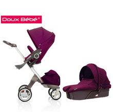 2014 Aluminum baby Stroller pram stroller High Quality 3 in 1 baby stroller fashion and safety