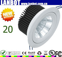 Top New products cob led ceiling light inserts round / square/ grille cob downlight 30w cob led light