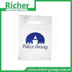 plastic die cut bag for garment of PE packaging