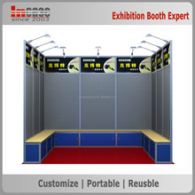 Aluminum frame and peg board exhibition display booth 3x3