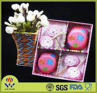 48pcs cake cup + 24pcs toothpick customize gift set diaposable paper cake cup