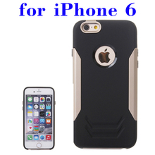 In Stock Now!!! 2 in 1 Pattern TPU and Aluminum Hybrid Cover for iPhone 6 Made in China