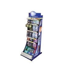 Floor standing metal snacks display stand for retail shop