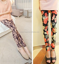 9128 2015 wholesale hot sale fashion summer new sexy women south korea colorful flowers printed leggings