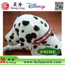 custom design retractable led pet collar