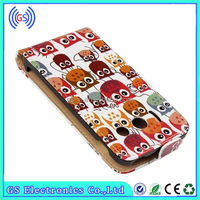 skin cover for huawei ascend y300 Cute Night Owl Pattern Leather skin cover