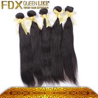 Guangzhou FDX company best seller cheap 6A virgin brazilian human straight hair extension