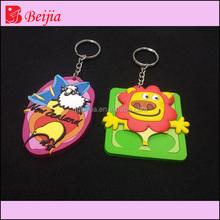 Popular Halloween Cartoon 3D rubber Keychain With Custom shaped Design