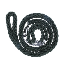 Black Cheap Wholesale Nylon Braided Dog Leash & Collar in One