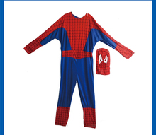 DJ-072yiwu caddy Red Spider Man Adult Size Back Zip Men Cosplay Outfit Lycra spandex full body suit for women