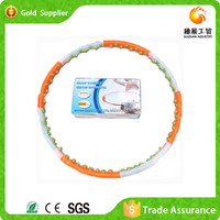 2015 Popular Cheap Magnetic Plastic Massage Hula Hoop For Fitness
