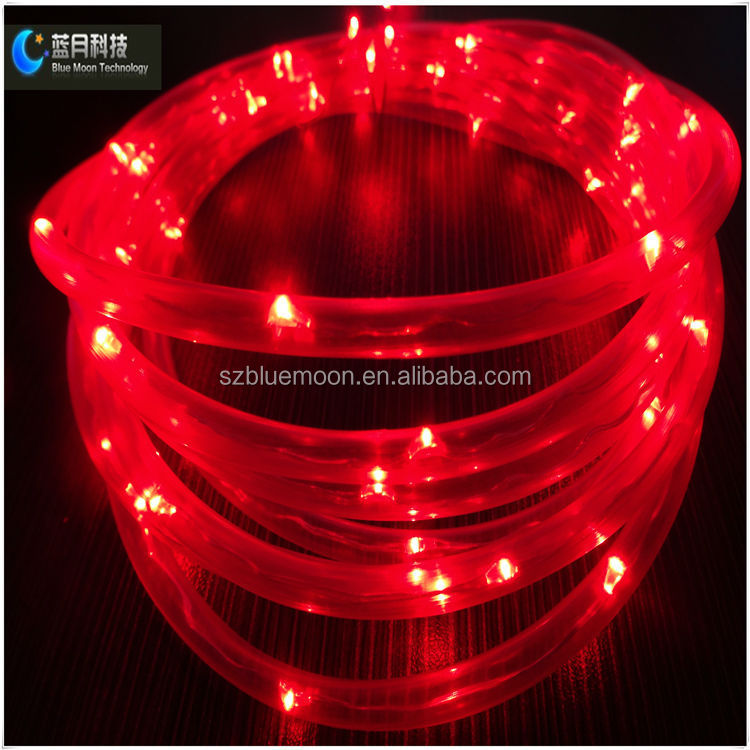 outdoor used led rope lights for christmas tree and battery powered