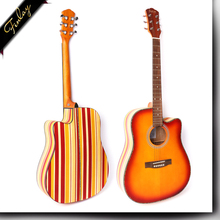 Finlay FS-4181C-NS 41 inch china cheap price colorful rainbow series wholesale acoustic guitar