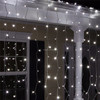 4m 122Led Outdoor waterproof Christmas decorative led curtain light for home theater ornament