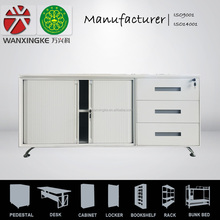 Australia full assembled keyed lock small metal filing cabinet caddy pedestal with steel sliding doors and 3 drawers