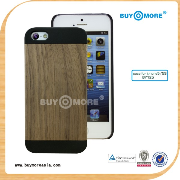 Wood phone case, wholesale wood mobile phone case for iphone,for iPhone 5/5s wood mobile phone case