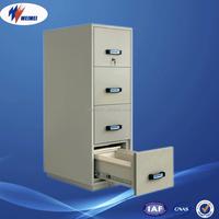 Office Furniture File Storage Vertical Gray Metal 4 Drawer Cabinet