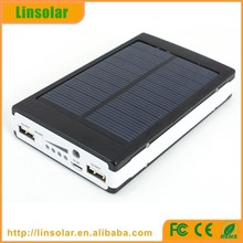 Cheap best quality OEM 10000mAh solar charger/10000mAh solar powerbank with Dual output