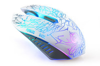 cool style backlit 6 Buttons adjustable DPI Game Mouse USB Wired LED Optical Gaming Mice