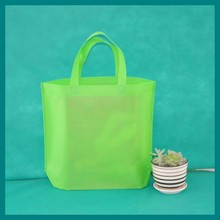 green Flat non-woven bags for market