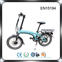 12'' small lead-acid battery steel frame foldable folding children electric mini bicycle