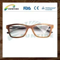 China Wholesale Custom Fashion Gradient Polarized wood eyewear frames For Reading Glasses
