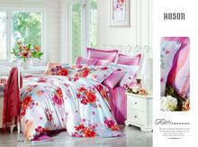 Red floral printed Elegant european design for children Duvet Cover Set