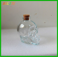 180ml Skull Glass Bottle of red wine glass bottle cork stopper wholesale