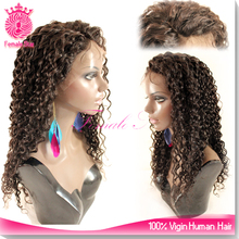 hot fashion virgin indian remy gray hair full lace wig easy to high ponytail