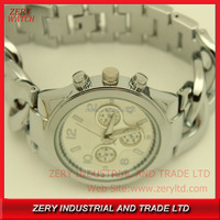 R0496 (*^__^*)hot sales !!! brand watch imitation , alloy band stainless steel case back watch imitation