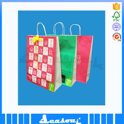 2015 popular paper gift bag with handle for promotion