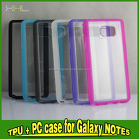 Glossy Color cover PC + TPU Mobile phone Shell protective cover For Samsung Galaxy Note 5