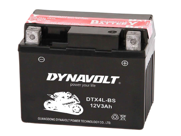 DYNAVOLT DTX4L-BS motorcycle battery 12v3ah lead acid battery