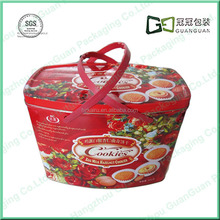 2015 Custom Food-Grade Rectangle Metal Tin Box For Cookies Packing Biscuit Tin Box Wholesale