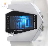New fashion colorful aircraft shape sports led digital display watch details quartz watches