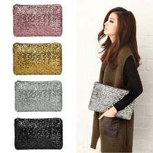 New Fashion Style Sparkle Spangle clutch purse evening bags Ladies handbags totes