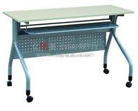 School teacher writing table with wheels, teacher lecture table, school office teacher desk