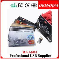 50pcs/lot 1g oem plastic credit card usb flash disk , advertising gift credit card usb pen drive