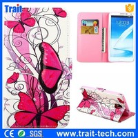 Flank Butterfly Pattern Wallet Style Magnetic Flip Stand TPU+ PU Leather Caes for Samsung Galaxy Note 3 N9000