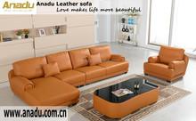 2015 Italian design Large Size U-shaped genuine leather corner Sofa