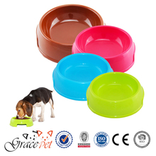Plastic Pet Feeding Food Water Dish Lightweight Dog Bowl