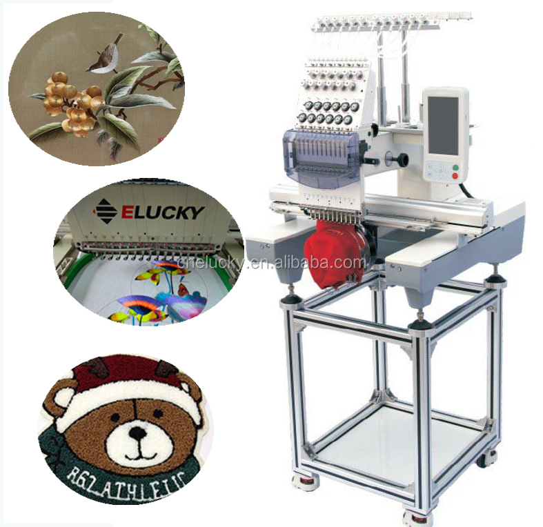 Single head brother embroidery and sewing machine for t
